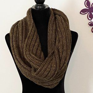 Roots 73 Chunky Infinity Scarf Beige / Taupe